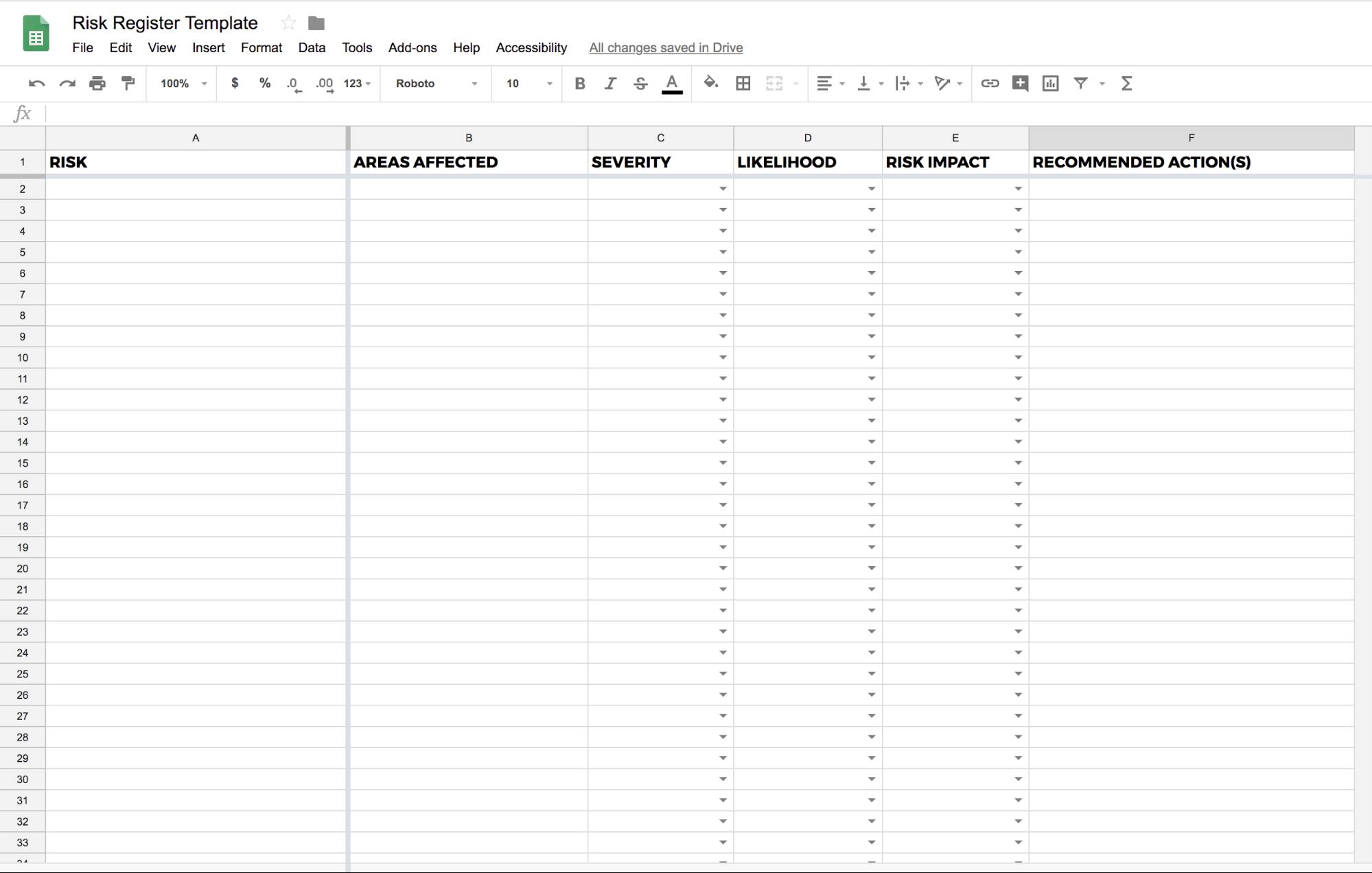 project reporting risk matrix